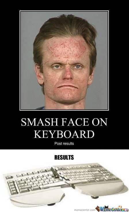 Resultados de darse contra el teclado